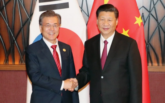 Leaders of S. Korea, China mend ties, reaffirm efforts to denuclearize N. Korea