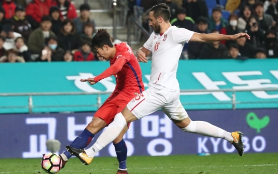 S. Korea play Serbia to 1-1 draw in football friendly