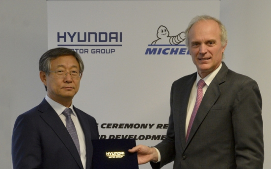 Hyundai Motor signs agreement with Michelin for EV tires