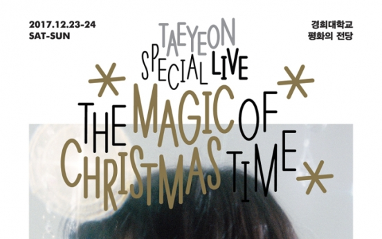 Taeyeon to return with Christmas record, concert in December