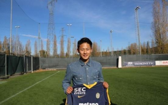 Korean footballer eyes starting spot at Italian club, nat'l team selection