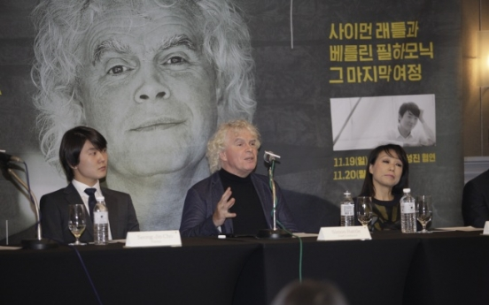 Simon Rattle's last tour in Korea with Berlin Philharmonic sweetened by pianist Cho Seong-jin