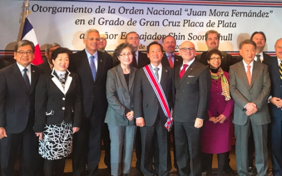 Costa Rica honors ex-Korean envoy for superb diplomacy
