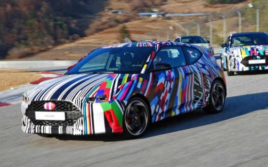 Hyundai gives sneak peek of new Veloster hatchback