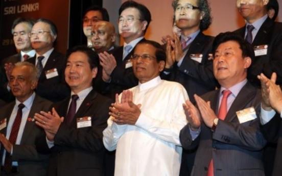 Korean biz leaders meet Sri Lanka president in Seoul