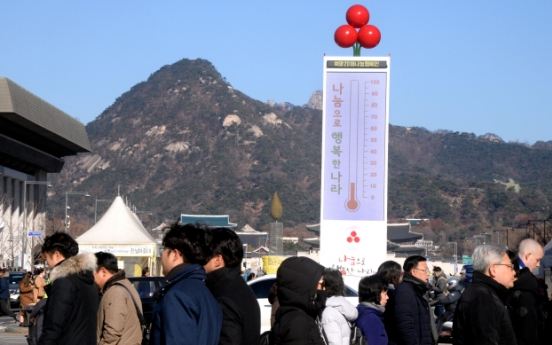 [Photo News] Love Thermometer Tower warms hearts