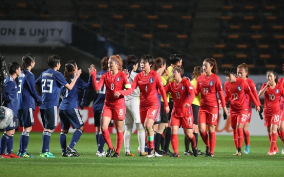 S. Korean women lose 3-2 to Japan in regional football tournament opener