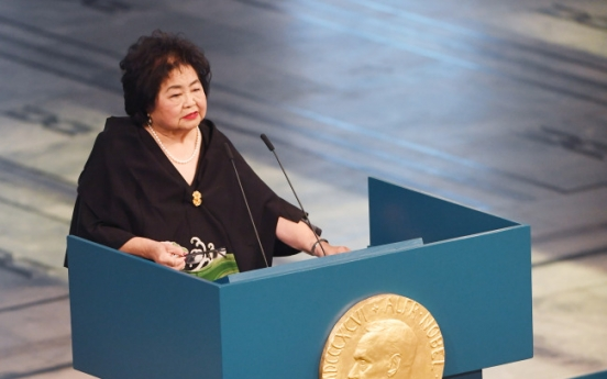 Nobel-winning Hiroshima survivor laments nuclear 'insanity'