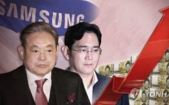 Samsung chief earns some W4tr from stock rally