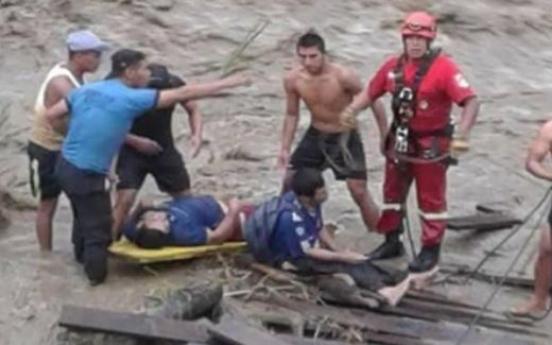 16 missing in Peru bridge collapse