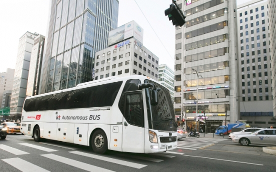 KT acquires first large self-driving bus permit