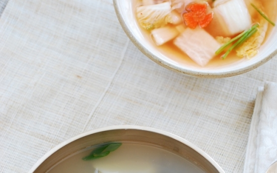 [Home Cooking] Gul tteokguk (Oyster rice cake soup)