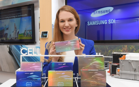 Samsung SDI showcases latest EV batteries at NAIAS 2018