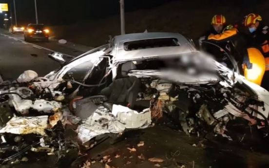 BMW driver seriously injured after slipper stuck on accelerator: Busan police