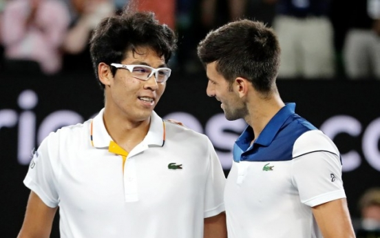 [Newsmaker] S. Korean tennis star Chung Hyeon beats Novak Djokovic at Australian Open