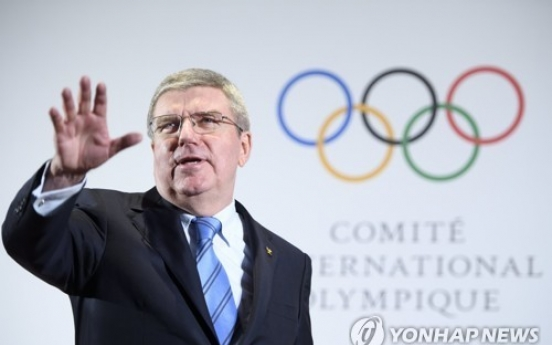 [PyeongChang 2018] IOC President Bach says PyeongChang Olympics can send 'message of peace' to world