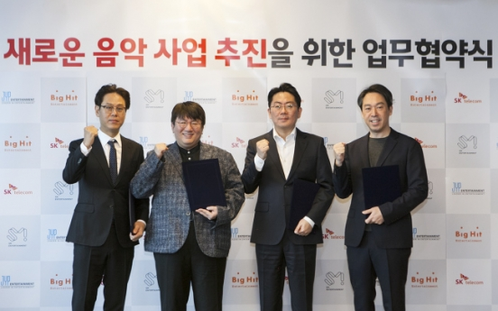 SKT readying new music service with K-pop heavyweights