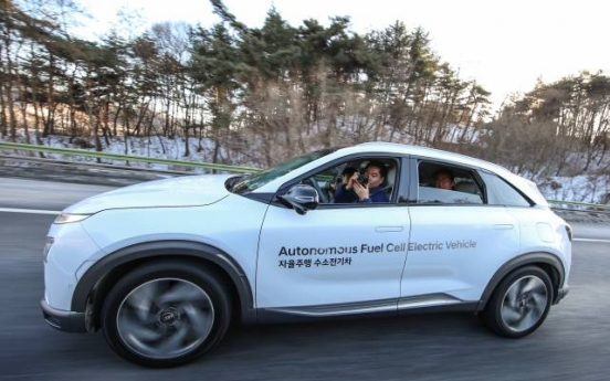 Hyundai demonstrates level 4 automated driving of Nexo FCEV