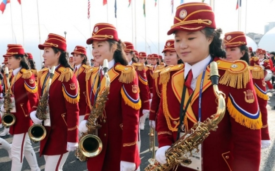 [Photo News] North Korean athletes enjoy festive welcoming ceremony