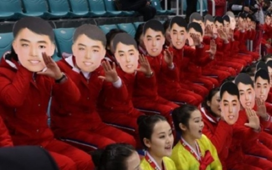 [PyeongChang 2018] Locals infuriated over NK cheerleaders wearing 'Kim Il-sung masks'