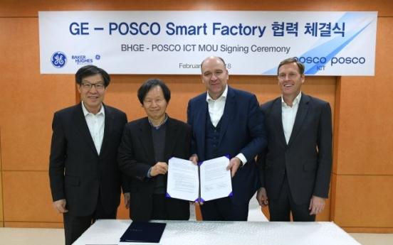 Posco signs memorandum with GE for smart factories