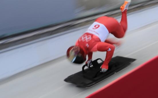 [PyeongChang 2018] South Korean skeleton star set for coronation as new king on track