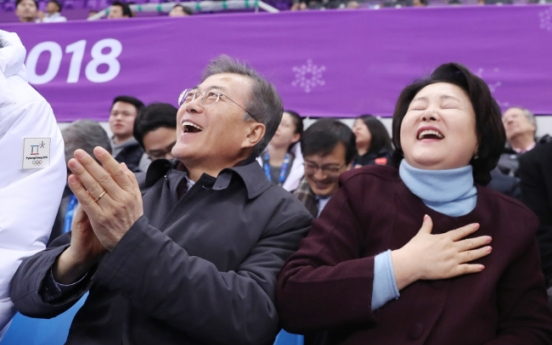 [PyeongChang 2018] Short track champion expresses gratitude for Moon's visit