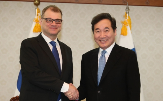 Korean Prime Minister holds talks with Finnish counterpart
