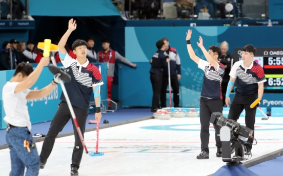 [PyeongChang2018] Korea's male curling team beats Japan in last round-robin match