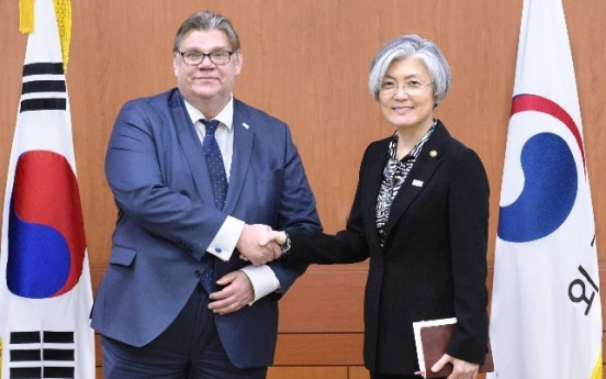 S. Korean, Finnish foreign ministers discuss cooperation on N. Korean nukes