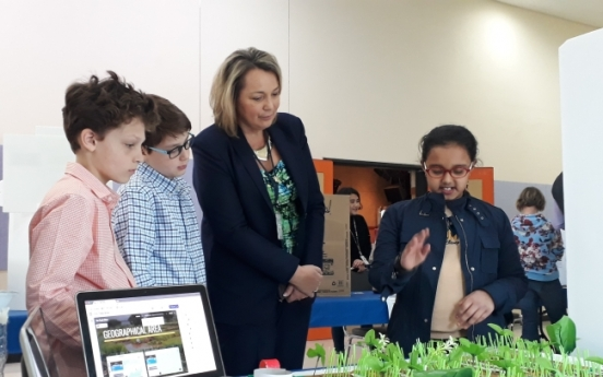 KIS 5th graders showcase creative works at Eco Trade Show