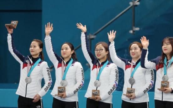 여자컬링, 스웨덴에 졌지만 사상 첫 은메달