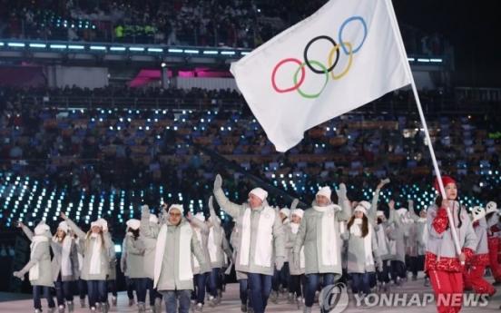 패럴림픽도 러시아팀은 '개인자격'…봉사자가 중립기 들고 입장