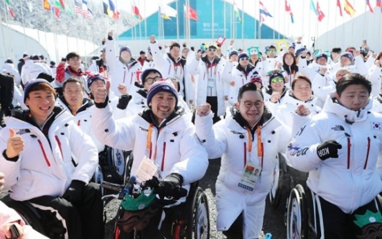 [PyeongChang 2018] Korean Paralympic squad officially welcomed at athletes' village