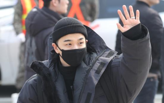 Big Bang's Taeyang starts military service