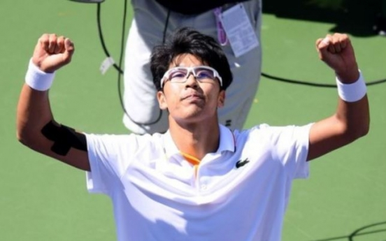 Chung Hyeon reaches 5th straight quarterfinals on ATP Tour, Federer up next