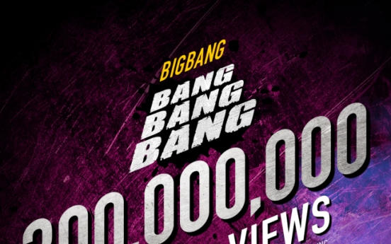 Big Bang's 'Bang Bang Bang' tops 300m views on YouTube