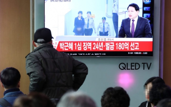 Park Geun-hye sentenced to 24 years in prison