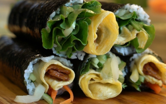 [Video] Diversity of Korean seaweed rice roll 'gimbap'