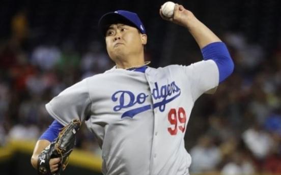 Dodgers' Ryu Hyun-jin picks up 1st win of '18