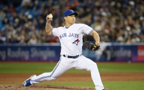 Blue Jays' Oh Seung-hwan tosses scoreless inning in relief vs. O's