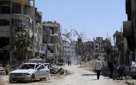 [Video] Syrian air defence shoots down missiles over Homs: state media