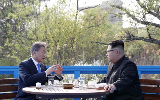 [2018 Inter-Korean summit] Leaders of Koreas agree to complete denuclearization, efforts to build peace