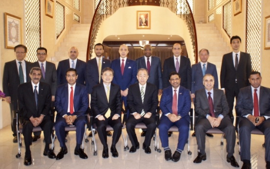 Arab envoys meet ex-UN chief at Omani Embassy