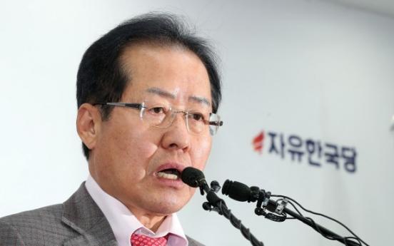 Hong still railing against inter-Korean summit