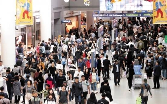 Households' overseas spending rises up