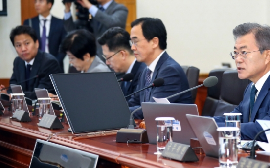 Moon urges early implementation of extra budget to create more jobs