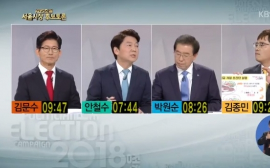 [2018 Local elections] Seoul mayoral candidates clash over air pollution