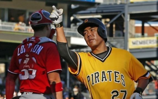 Pirates' Kang Jung-ho hits grand slam in 2nd minor league game since return