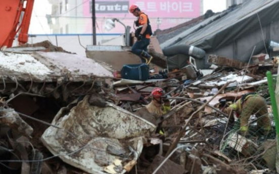 One injured in building collapse in Yongsan